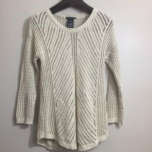 Chelsea & Theodore open knit sweater. Large